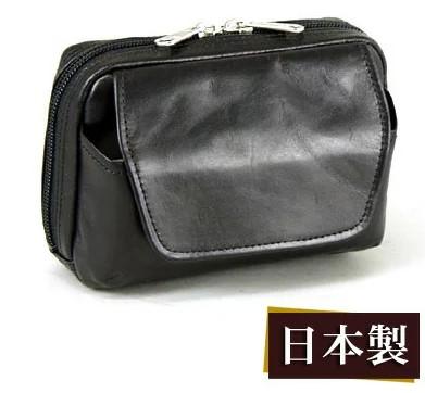 ブレザークラブ(BLAZER CLUB)レザーベルトポーチ 15cm #25649【パスポートサイズ メンズ 日本製 豊岡製ビジネスバック セカンドポーチ 】
