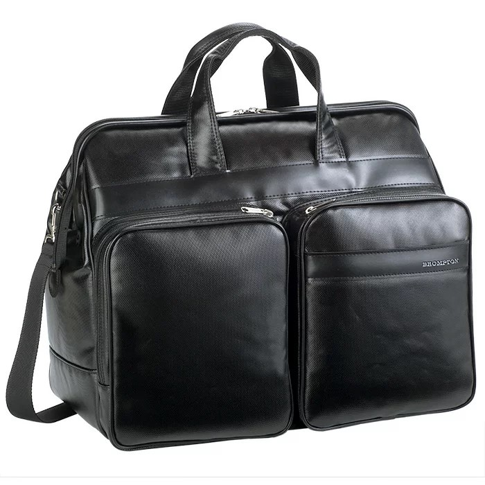 ボストンバッグ ダレスボストン メンズ ボストンバック ダレスバッグ チャックダレス ポリカーボネート 41cm 出張 宿泊 旅行 仕事 黒 日本製 豊岡製鞄 BROMPTON #31128