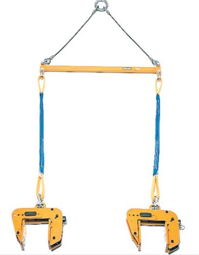 超軽量 コンパクト セール品 SUPERTOOL スーパーツール パネル吊りクランプ 型枠 木製パネル用 ×2台 天秤セット 防音壁使用可能 遠隔操作用ロープ付 吊り上げ器具 吊クランプ 100kg PTC100S お求めやすく価格改定 スプリング式締付けロック機構 5~80mm