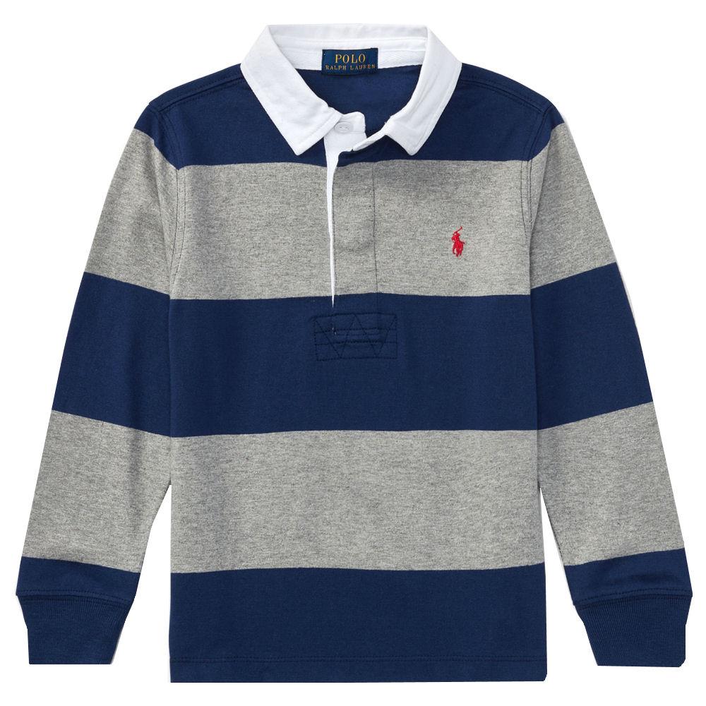 X Navy Stripe Ralph Laurenpolo Sleeves Shirtgray Horizontal LaurenLong Rugby Polo SULGqVMpz