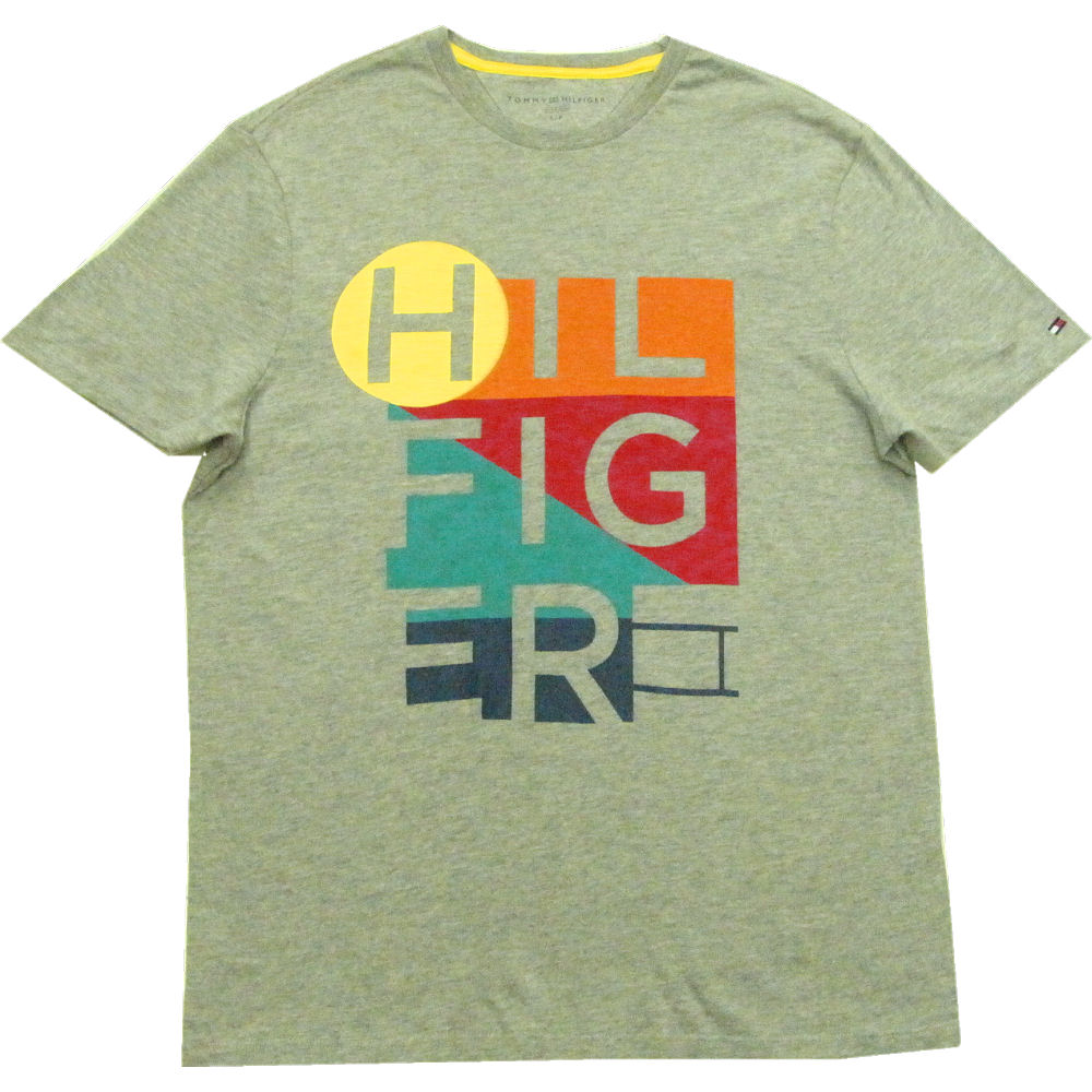 6684caef0 It is the T-shirt that a bright design print is stylish. Flag logo  embroidery is containing it on the left cuffs. Men's ☆ Tommy Hilfiger ...