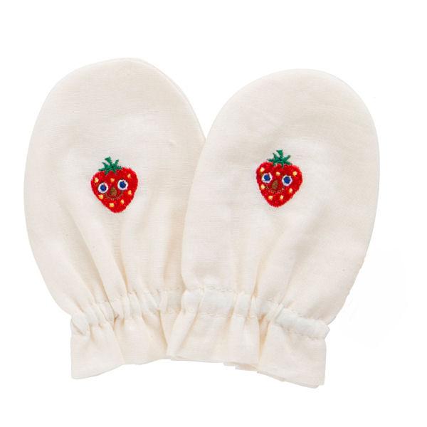 Solby(sorubii)有機·紗布·連指手套/草莓☆馬拉松期間全物品要點10倍!最大25倍!