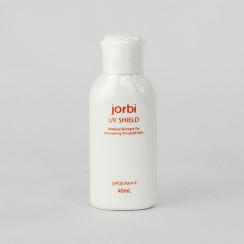 ケミカルピーリング前後のケアに 激安セール 低刺激性日焼け止め乳液 化粧下地にも使えます ジョルビ 卓抜 UVシールド SPF20 PA++ おすすめ ピーリング後 jorbi ケミカルピーリング 40ml ピーリング前