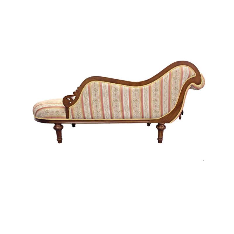 カウチ ソファ ソファ イス 幅185 アンティーク ソファー ロビー用 エントランス用 刺繍 おしゃれ 椅子 変形 エレガント フレンチ ヨーロピアン クラシック 高級感 ブラウン 茶 SA-C-1173-B5