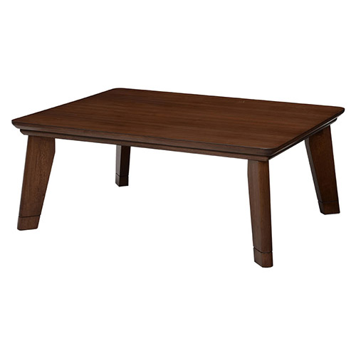 リビングコタツ 幅105cm リノCF105 木製 正方形 ブラウン ナチュラル こたつ 長方形 男前家具 炬燵 茶色 リビング テーブル 薄型ヒーター フラットヒーター おしゃれ オールシーズン使える スタイリッシュ