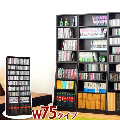 SOHO書棚 幅75cm 壁面書棚 壁面収納 本棚 文庫収納 ブックシェルフ キッズ A4ファイル 教科書やノートの収納に 学習机の隣にお勧めの本棚 オープンラック 子供部屋