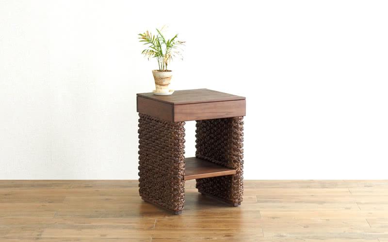 サイドテーブルテーブル サイドテーブル コーヒー ナイト 机 ソファサイド 癒やし リゾート風