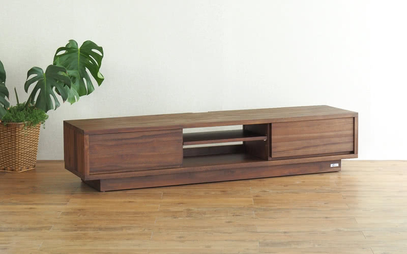 チーク無垢材 TVボード 幅160cm インテリア テレビ台 TV ローボード
