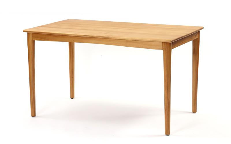 チーク無垢材 ダイニングテーブル 125cm幅+サイズ35cm拡張セット