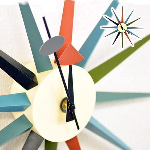 ジョージネルソンデザイン サンバーストクロックCL-08ネルソン クロック リプロダクト商品 ミッドセンチュリー アート おしゃれ木製 薄型 通販 AWL