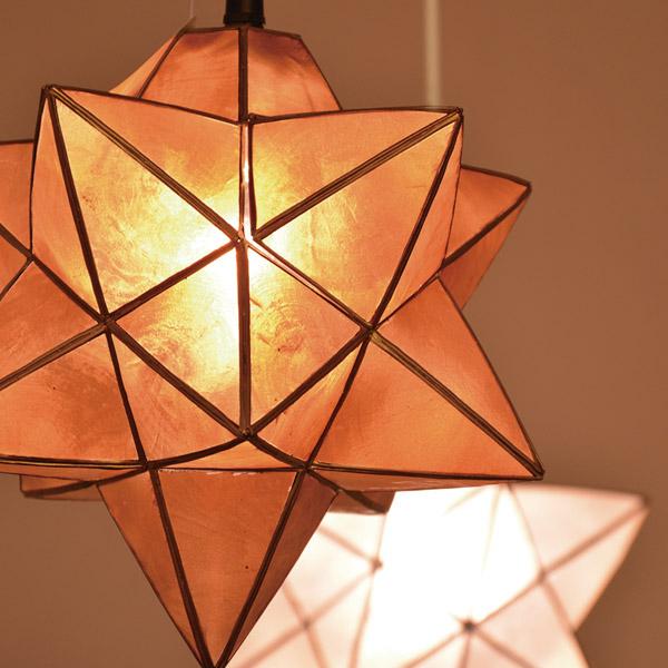 3D立体星形ペンダントライト カピス貝のセードがキレイ ルチェルカ Roxas Star Pendant ペンダントライト 1灯 カピス貝 セード 245993 送料無料