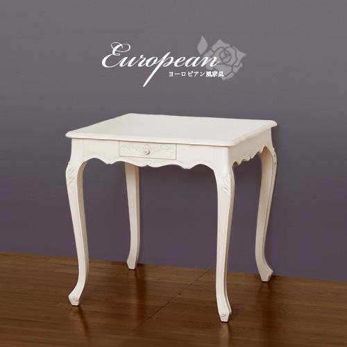 ダイニングテーブル 幅75cm ロココ テーブル アンティーク調 テーブル 猫脚 アンティーク調 猫脚ダイニングテーブル 白 ホワイト 天然木 ゴージャス おしゃれ ロマンチック 優雅 テーブル