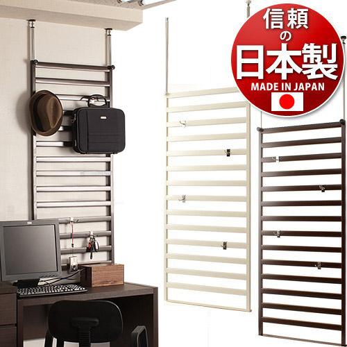 日本製 家具に設置できるラダーラック60cm幅 棚なしタイプ ハンガーラック 店舗用オフィス用 薄型 ラダーラック スチール製 フック付き ディスプレイ飾る モダン 国内生産