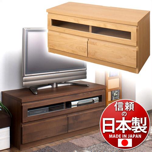 テレビボード テレビ台 W100 木製 ナチュラル 日本製 TVボード 上質 天然木 アルダー材 すぐ使える完成品TV台 シンプル モダン フラット デザインテレビボード 国産品 組立て済み 幅101cm 32インチ 40V型 32v