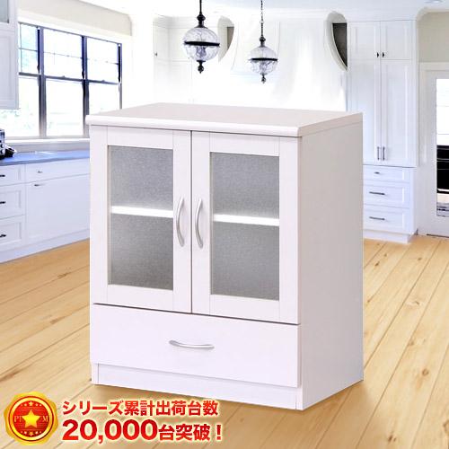 キャビネット 幅60cm ピュアホワイト (Branco(ブランコ)) 白引き出し 電話台 ミニテレビ台 食器棚 キャビネット 引き出し リビングボード 白 家具 シンプル 北欧SB23682