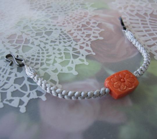 桃珊瑚可愛いお花の羽織紐/正絹/和小物【送料無料】【smtb-KD】