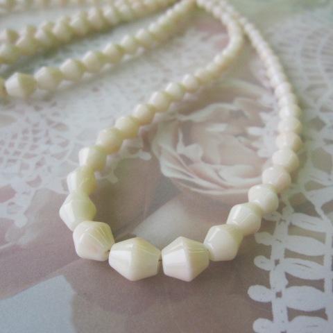 ミッド珊瑚のネックレス/SILVER925/ソロバン/天然サンゴ・さんご/『宝石珊瑚』