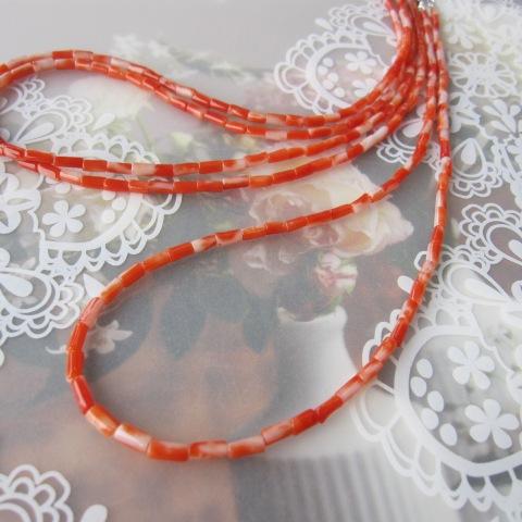 高知産赤珊瑚枝のネックレス/43センチ/SILVER925/『宝石サンゴ』