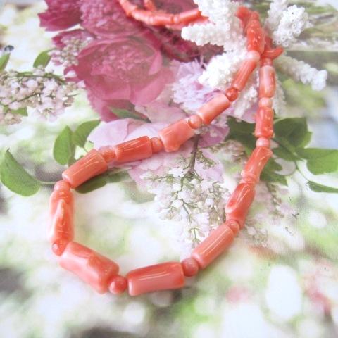 ピンク珊瑚枝のネックレスG.SILVER/天然さんご・サンゴ/送料無料【smtb-KD】