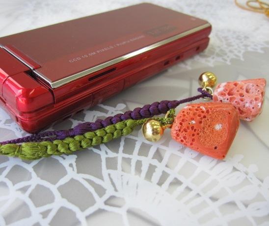 安値 選べる 深海の宝石さんごの和小物 モモ珊瑚の根付けストラップ 厄除け 開運 お守り 安値