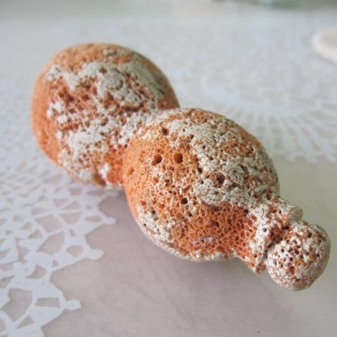 桃珊瑚ジャンボ瓢箪の置物/縁起物のひょうたん/天然サンゴ・さんご