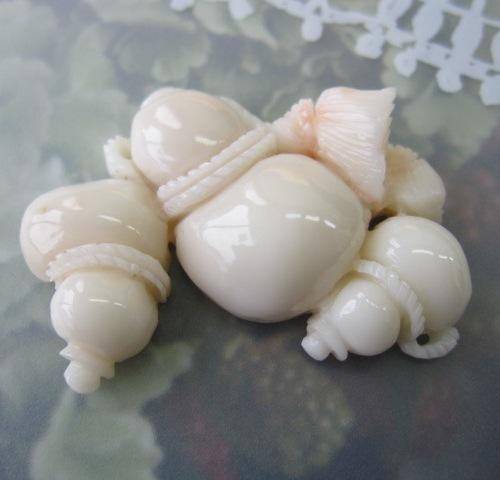 豪華なシロ珊瑚のひょうたんのパーツ瓢箪/手作り