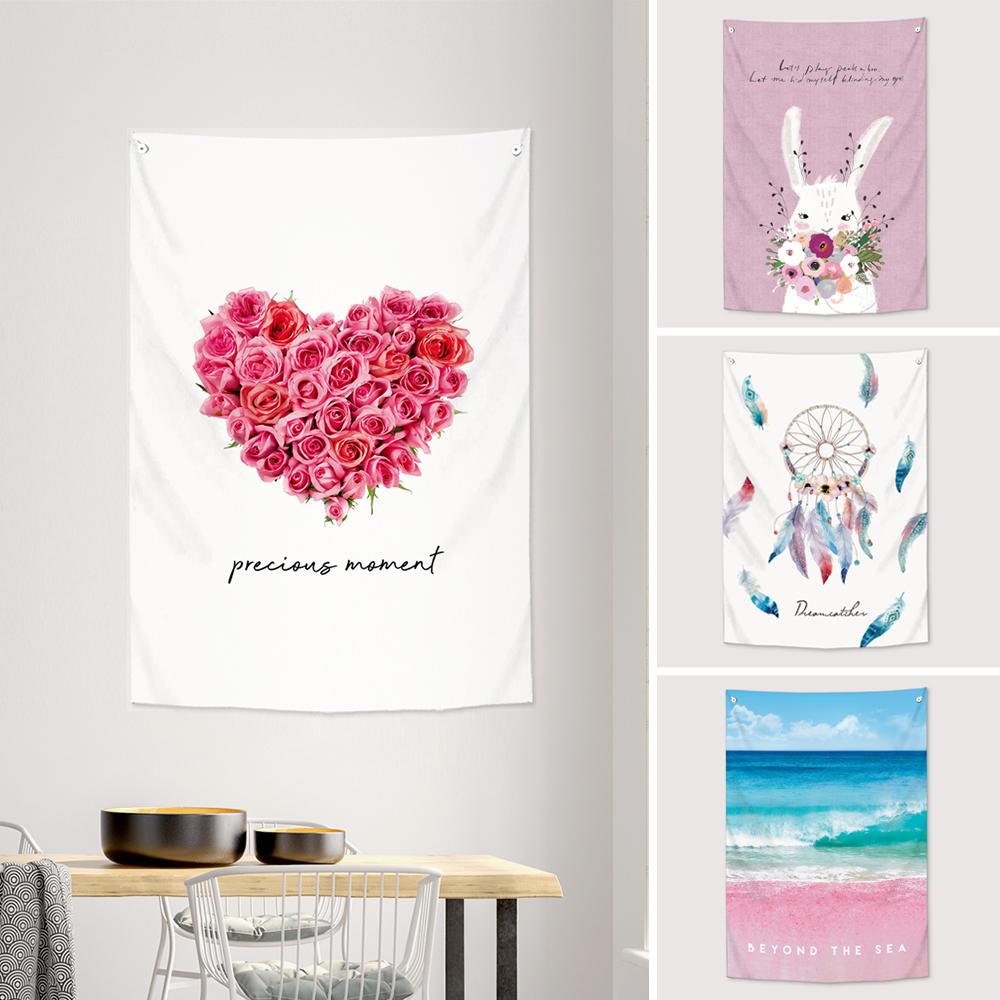 ファブリックのタペストリー型ポスター クロスやカバーとしても使えます 今だけ10%OFF カーテン 子供部屋 室内飾り 動物 花 ひまわり ピンク 最新アイテム ウォッシャブル ラブリー 全20種類 かわいい 仕切り コレクション おしゃれ 85x120cm サンサンフー 公式