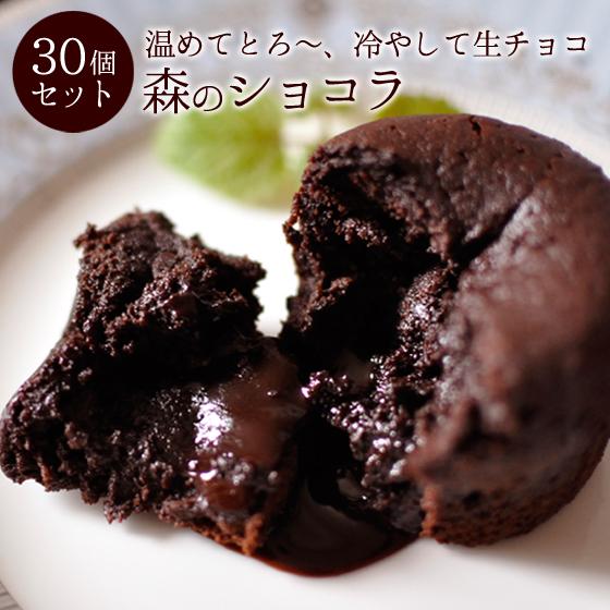 大量 チョコ ケーキ フォンダンショコラ 森のショコラ 30個入 業務用 パーティースイーツ イベント お配りチョコ あす楽対応