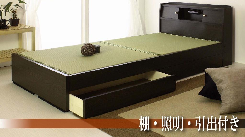 【日本製】【送料無料!!】《引出し収納付き》畳ベッド[ セミダブル ]W121×L215×H72cm【YDKG-k】【smtb-k】【KB】