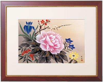 【和の雅び 伝統の趣 四季花】W48×H39cm【YDKG-k】【smtb-k】【kb】壁 絵