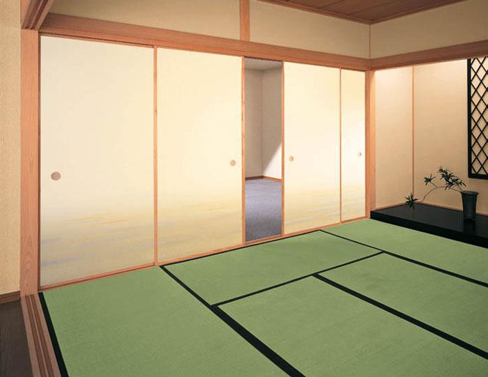 【純国産畳 2層型建材床 綿麻W(4.5帖新調) 燕子花-KAKITSUBATA-】【YDKG-k】【smtb-k】【KB】
