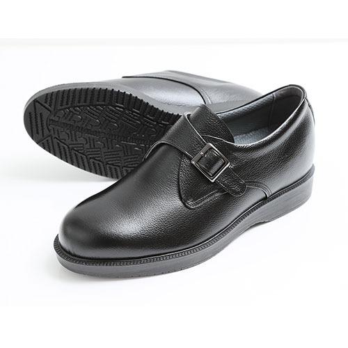 北嶋製靴 牛革モンクプレーンシューズ 5.5cmヒールアップ 921 1足
