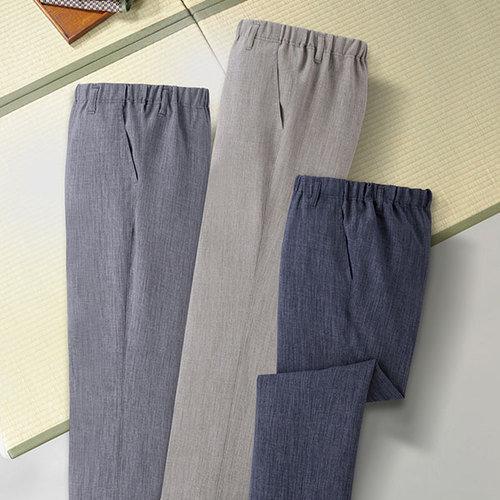 彩香 エムアイジェイ 日本製 お手入れ簡単 スコッチガード加工 楽々パンツ WA-1015 1セット(3本:3色×各1本)