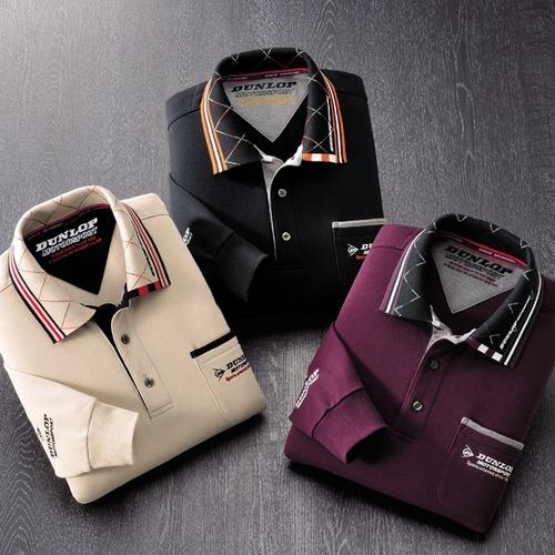 フレンドリー ダンロップ・モータースポーツ 裏起毛長袖ポロシャツ 3色組 957216 1セット(3枚:3色×各1枚)
