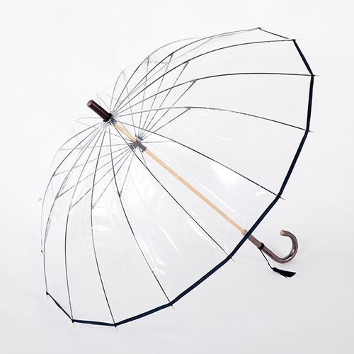 強風でも傘が裏返しになりにくい高級日本製ビニール傘 入手困難 ホワイトローズ 十六夜桜 ビニール傘 長傘 1本 16本骨 定番