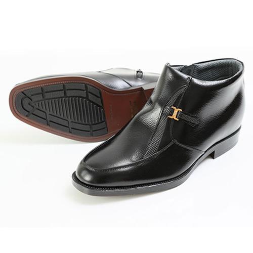 北嶋製靴 牛革デザインモカハーフブーツ 5cmヒールアップ 763 1足