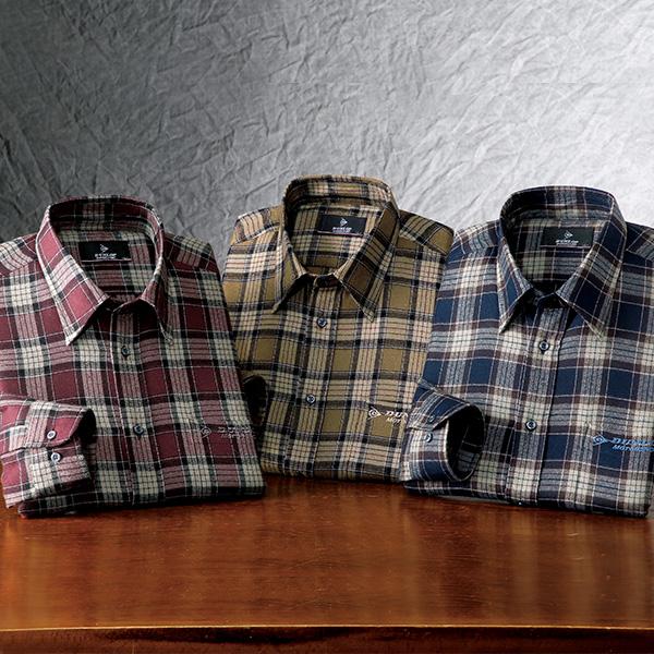 フレンドリー ダンロップモータースポーツ やわらかタッチ格子柄シャツ 957192 1セット(3枚:3色同サイズ×各1枚)