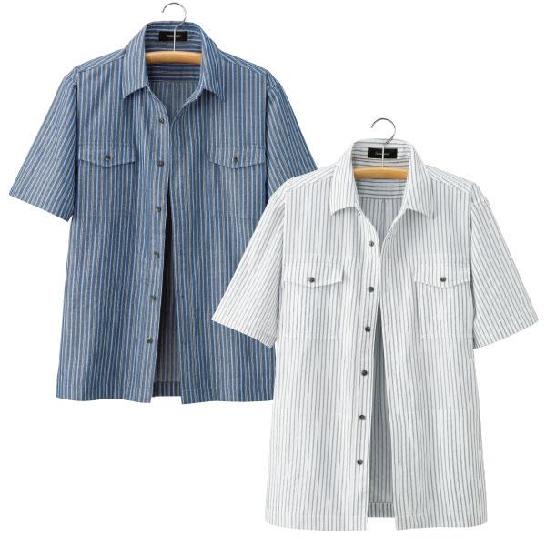 フレンドリー 10ポケット ストライプシャツジャケット 957443 1セット(2着:2色同サイズ×各1着)