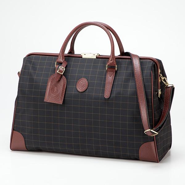 平野鞄 カチャトーレ 日本製チェック口枠ダレスボストン 11933 1個