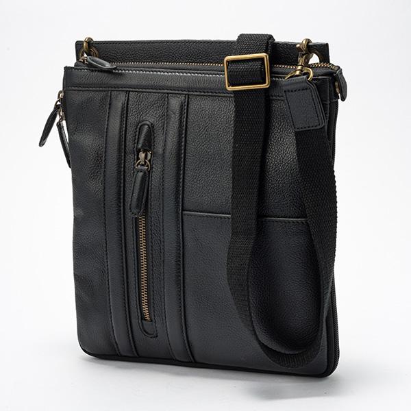 平野鞄 ハミルトン 牛革縦型薄マチショルダーバッグ 大 16442 1個