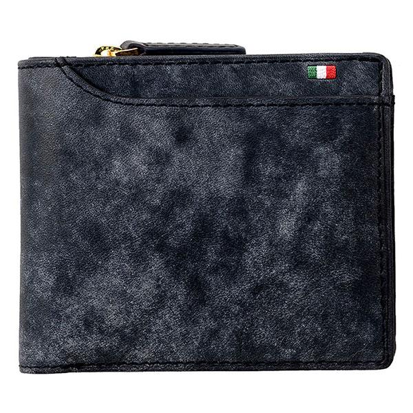 ビスポーク ミラグロ イタリアンヌバック23ポケット二つ折り財布 CA-P-572 1個