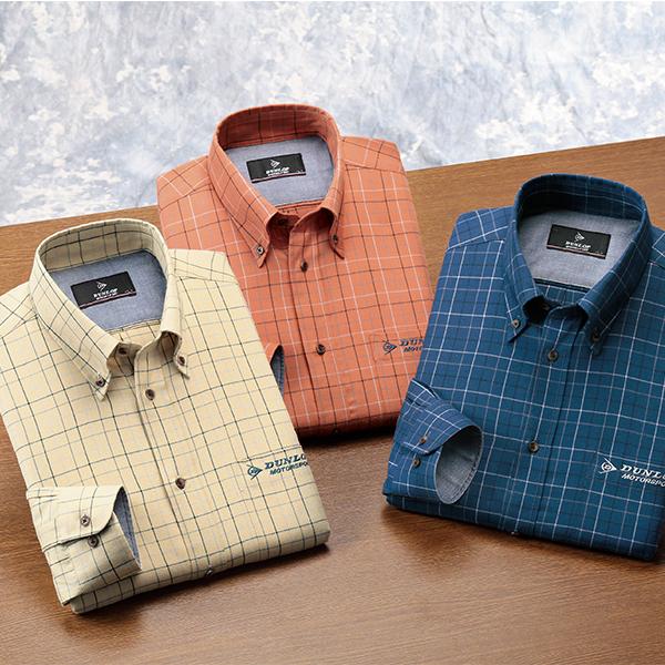 フレンドリー ダンロップ・モータースポーツ 上品チェック柄カジュアルシャツ 3色組 957512 1セット(3枚:3色×各1枚)