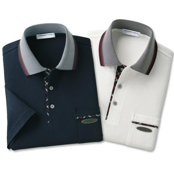 フレンドリー ダンロップ・モータースポーツ 日本製 綿100%5分袖ポロシャツ2色組 957359 1セット(2枚:2色同サイズ×各1枚)