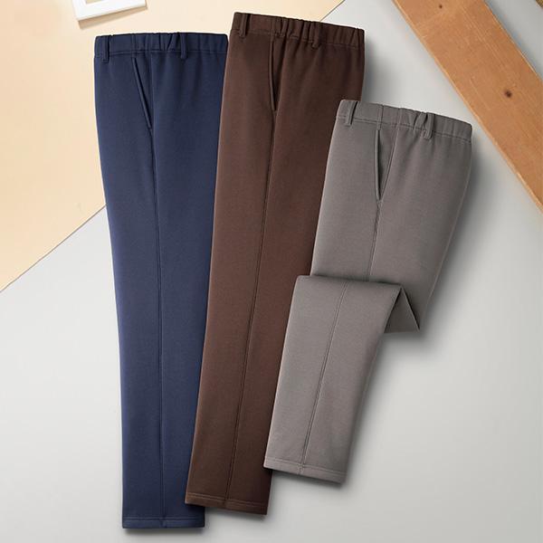彩香 日本製 スコッチガード加工 裏起毛パンツ 3色組 8223 1セット(3本:3色×各1本)