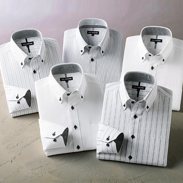 フレンドリー 形態安定こだわり定番ワイシャツ 5枚組 957578 1セット(5枚:5色×各1枚)
