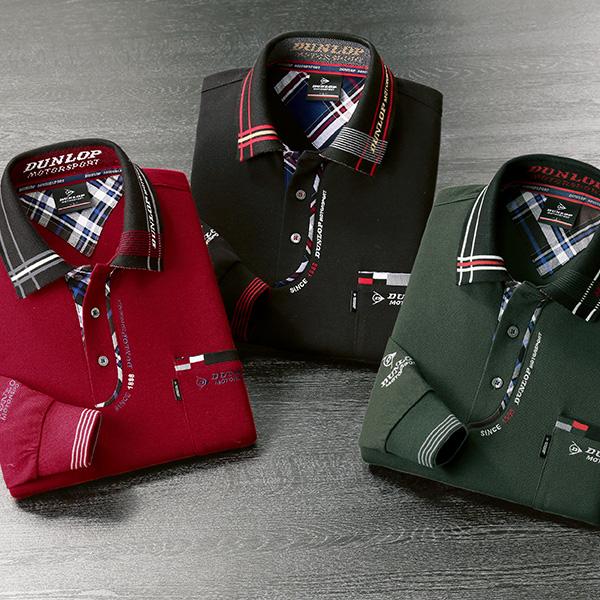 フレンドリー ダンロップ・モータースポーツ 大人のこだわりデザインポロシャツ 3色組 957591 1セット(3枚:3色×各1枚)