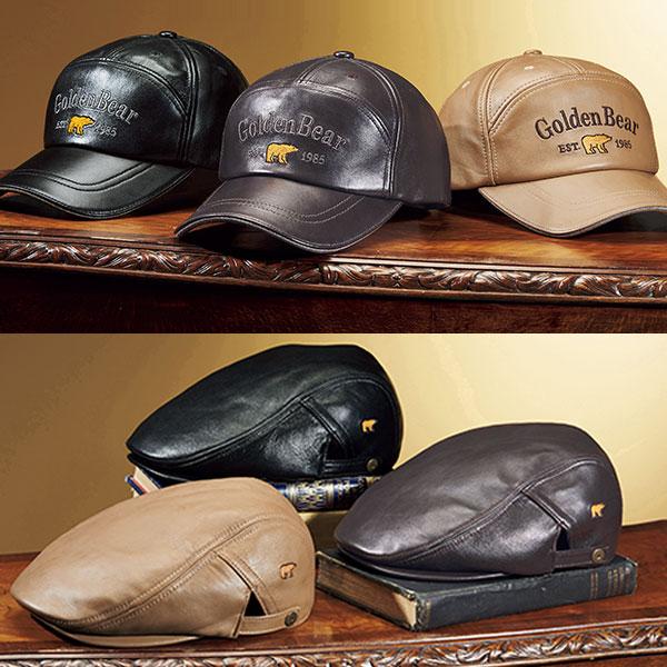 使い込むほどに味が出る羊革帽子 フレンドリー 最安値 ゴールデンベア おトク 本革デザイン帽子 382393 1個 370967