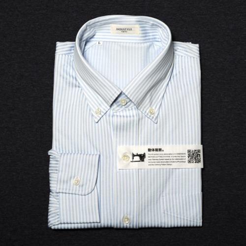 丸和繊維工業 インダスタイルトウキョウ ロンドンストライプ ボタンダウンシャツ 長袖 31J021A2YB2 1枚