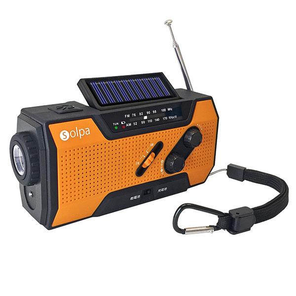 いざという時に頼れる1台5役 18%OFF 手回しソーラー充電ラジオ クマザキエイム ソルパ 手回し チャージオ 1個 情熱セール SL-090 ソーラー蓄電ラジオ