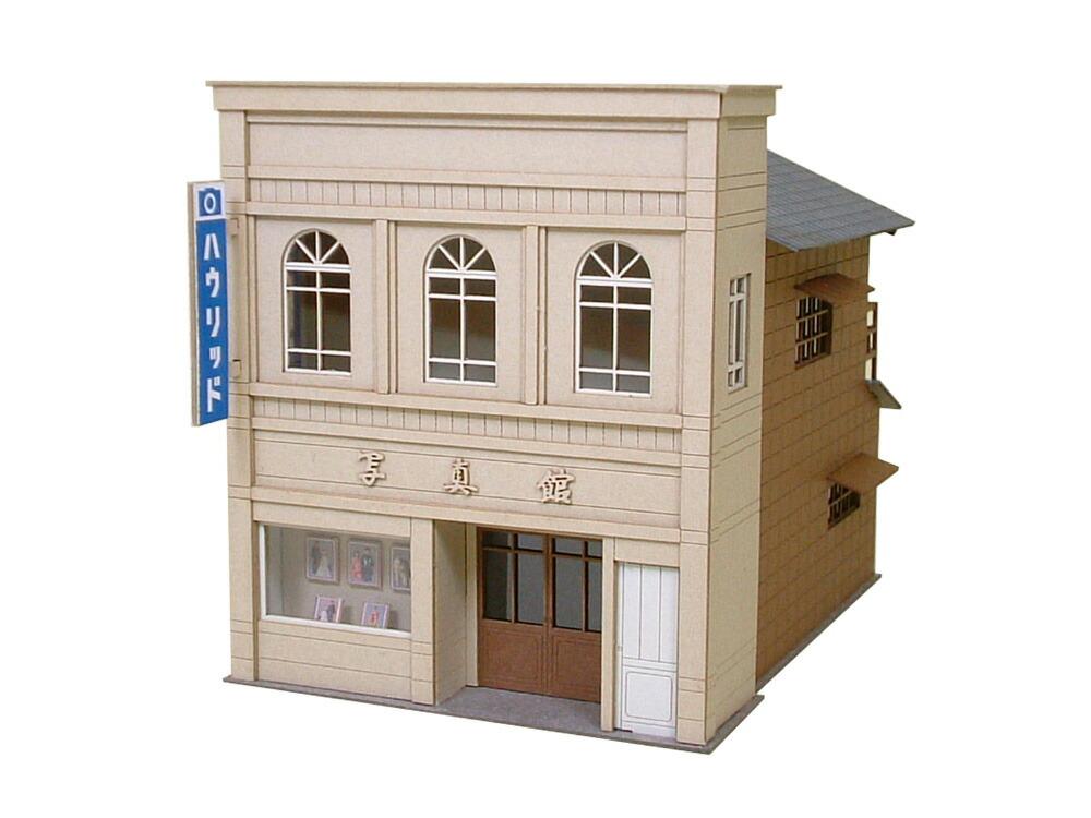 ミニチュア ペーパークラフト 新作アイテム毎日更新 情景シリーズ 街角のお店-2 S=1 87 みにちゅあーとキット ジオラマ HOゲージ 精密 オリジナル 建物